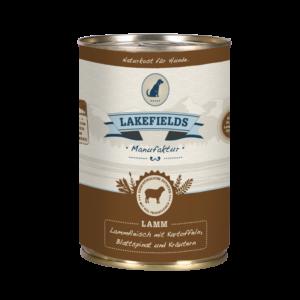 Lakefields Hundefutter Nassfutter Dosenfleisch Menü Lamm 400g