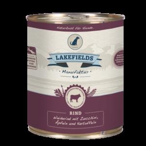 Lakefields Hundefutter Nassfutter Dosenfleisch Menü Rind 800g