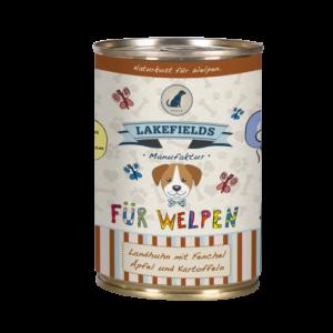 Lakefields Hundefutter Nassfutter Dosenfleisch Menü Huhn für Welpen 400g