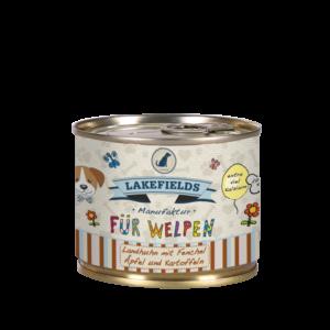 Lakefields Hundefutter Nassfutter Dosenfleisch Menü Huhn für Welpen 200g