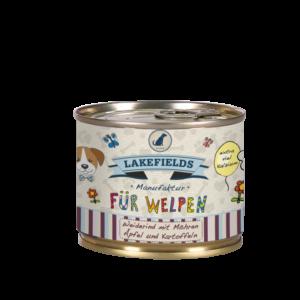 Lakefields Hundefutter Nassfutter Dosenfleisch Menü Rind für Welpen 200g