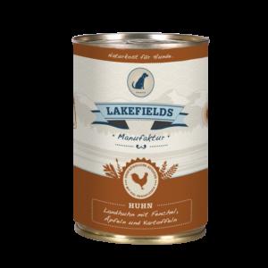 Lakefields Hundefutter Nassfutter Dosenfleisch Menü Huhn 400g
