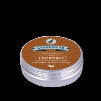 Lakefields Hundefutter Snacks Leckerli Trockenfleisch vom Huhn 50g