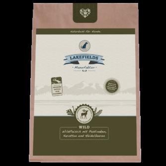 Lakefields Hundefutter Trockenfutter Trockenfleisch Menü Wild 2,5kg