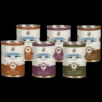 Probepaket Dosenfleisch-Menüs für ausgewachsene Hunde 6 x 400 g