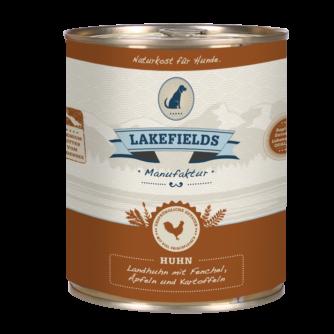 Lakefields Hundefutter Nassfutter Dosenfleisch Menü Huhn 800g