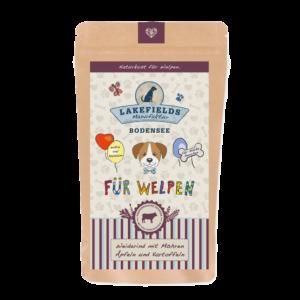 Lakefields Hundefutter Trockenfutter Trockenfleisch Menü Rind für Welpen 150g